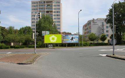Pardubice - ulice Anenská, levý