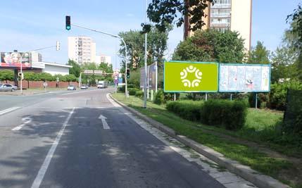 Anenská u křižovatky s ul. Karla IV. - levý billboard