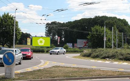 Pardubice - ulice Poděbradská, kruhový objezd