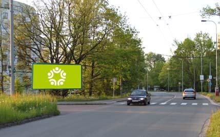 Pardubice - ulice kpt. Bartoše, za mostem