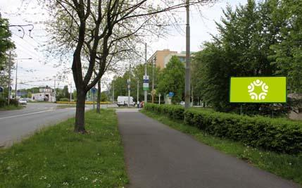 Pardubice - ulice Kpt. Bartoše, před kruhovým objezdem