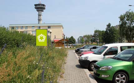 Pardubice - nábřeží Závodu míru, směr centrum