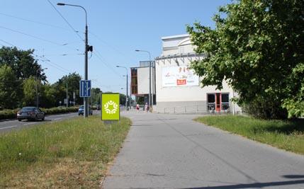 Pardubice - ulice Hradecká / Sukova třída, směr z centra