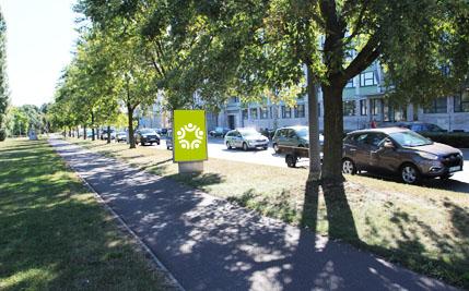Pardubice - ulice Sukova třída / Hradecká, směr centrum