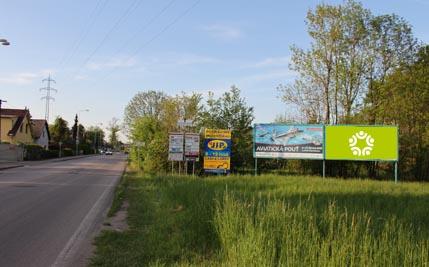 Staré Hradiště - silnice I/37, před kruhovým objezdem, pravý