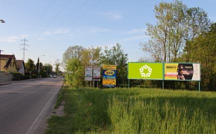 Staré Hradiště - silnice I/37, před kruhovým objezdem, levý
