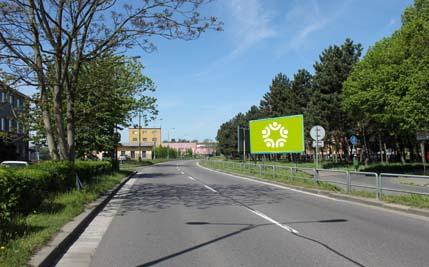 Pardubice - ulice Hlaváčova, směr nádraží ČD
