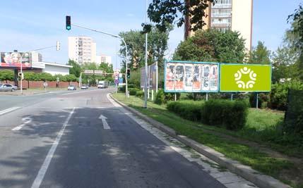Anenská u křižovatky s ul. Karla IV. - pravý billboard