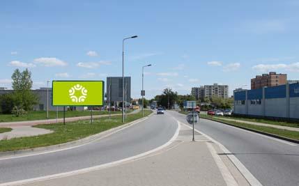 Pardubice - ulice Na Drážce, kruhový objezd, směr Hůrka