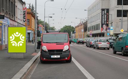 Pardubice - ulice Jana Palacha / Teplého
