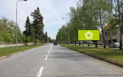 Pardubice - ulice Pod Břízkami, směr ke krematoriu