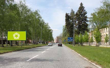 Pardubice - ulice Pod Břízkami, směr od krematoria