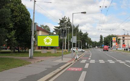 Pardubice - ulice Teplého, u hasičů, směr z centra