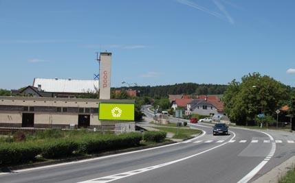 Býšť - silnice E442, před odbočkou na Pardubice