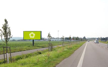 Pardubice - ulice Chrudimská, první před kruhovým objezdem
